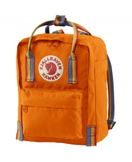KANKEN RAINBOW MINI Burnt Orange-Rainbow Pattern